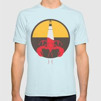 Lobster House Mens Fitted Tee Light Blue SMALL