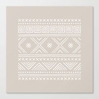 Into the West - in Taupe Canvas Print