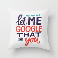 No, No, No Throw Pillow