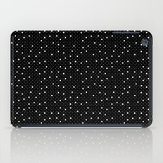 Pin Point Polka White on Black Repeat iPad Case