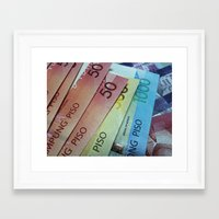 Philippine Cash Framed Art Print