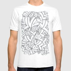 And Another Flock White Mens Fitted Tee SMALL
