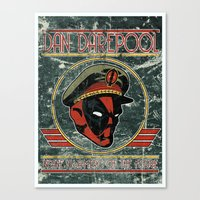 Dan Darepool: Insane Ninja-Merc of the Future Canvas Print