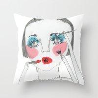 nenita loka 2 Throw Pillow