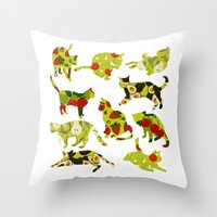 Kitchen Cats Throw Pillow