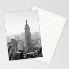 Manhattan - Empire State Building Panorama | B/W Stationery Cards