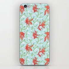 Goldfish, Mask and Magnolia Pattern iPhone & iPod Skin