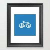 No War Ride Bike Framed Art Print