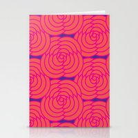 Purple & Orange Stationery Cards