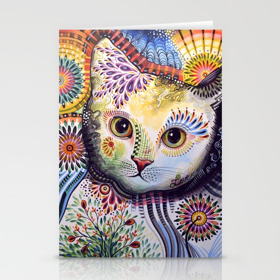 Lucy ... Abstract cat art Stationery Card