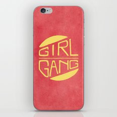 Girl Gang - Watercolour Illustration of Bold Block Text iPhone & iPod Skin