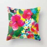 Hawaiian Jungle Throw Pillow