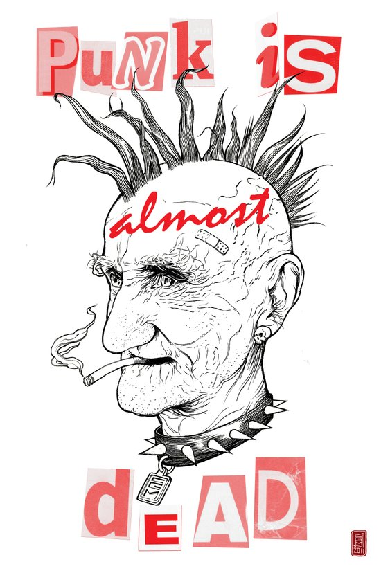 Punk Is ALMOST Dead Art Print
