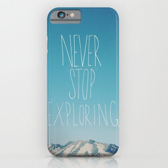 Never Stop Exploring: Mount Rainier iPhone & iPod Case