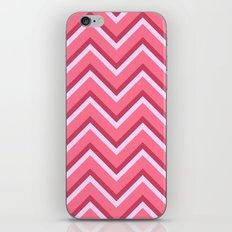 Pink Zig Zag Pattern iPhone & iPod Skin