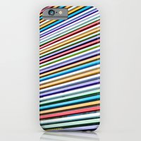 iPhone & iPod Case featuring Colored Lines On The Wall by Mauricio Santana