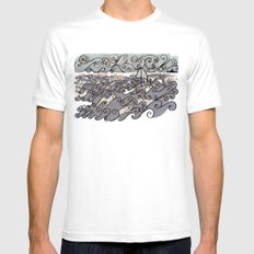 Sail Away Mens Fitted Tee White SMALL