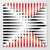 Red, Black & White Canvas Print