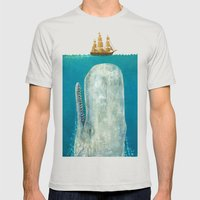 The Whale  Mens Fitted Tee Silver SMALL