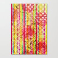 Retro Pattern Collage Canvas Print