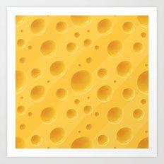 Orange Cheese Texture - … Art Print