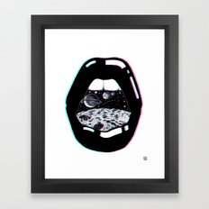 Space Lips Framed Art Print
