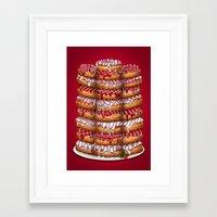 Donuts IV 'Merry Christmas' Framed Art Print