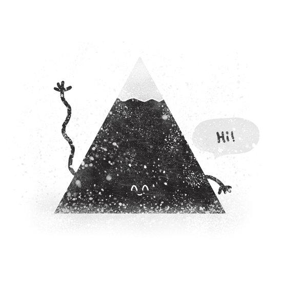 Happy Mountain Canvas Print