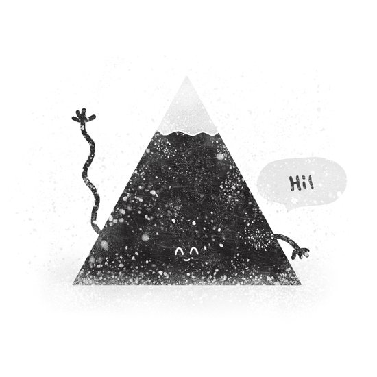 Happy Mountain Art Print