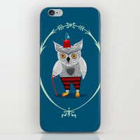 Olaf The Old Grey Owl iPhone & iPod Skin