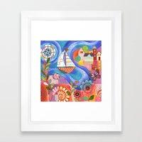 Summer Harbor Framed Art Print