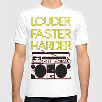 LOUDER Mens Fitted Tee White SMALL
