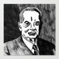 31. Zombie Herbert Hoove… Canvas Print