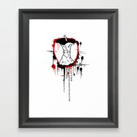Rotton to the Core Framed Art Print