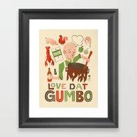 Love Dat Gumbo Framed Art Print