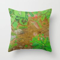A Day Of Forest (6). (cl… Throw Pillow