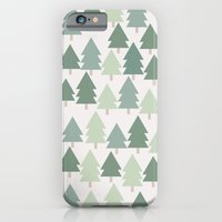 iPhone & iPod Case featuring  Pine Tree Pattern - California, Pacific Northwest, Portland, PDX, Seattle, Washington, Oregon by Corrie Jacobs