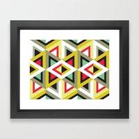 Stripy Triangle Pattern Framed Art Print
