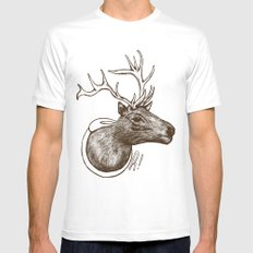 Oh Deer! White SMALL Mens Fitted Tee