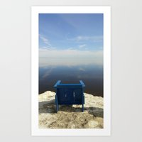 The Blue Chair At The Se… Art Print