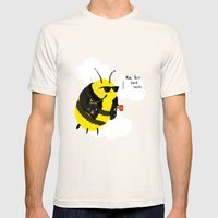 Festival Bees Mens Fitted Tee Natural SMALL