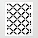 BW Pattern (Link) Art Print