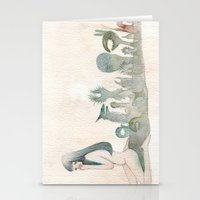 Ghost Behind You Stationery Cards