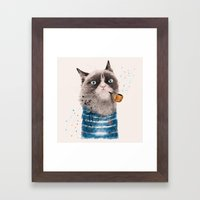 Sailor Cat III Framed Art Print