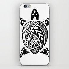 Black Abstract Turtle iPhone & iPod Skin
