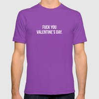 Fuck You Valentine's Day… Mens Fitted Tee Ultraviolet SMALL