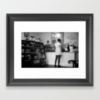 Bakery Girl Framed Art Print