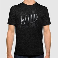 Wild Creatures Mens Fitted Tee Tri-Black SMALL