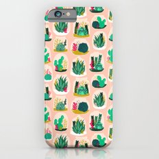 Terrariums - Cute little planters for succulents in repeat pattern by Andrea Lauren iPhone 6 Slim Case