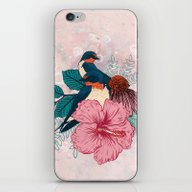 iPhone & iPod Skin featuring Barn Swallows by Mat Miller